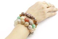 Bracelet on a hand  Stock Image