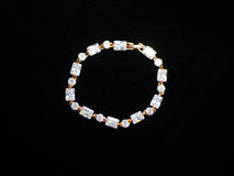 Bracelet hand plastic stones metal jewelery Stock Photo