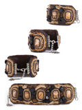 Bracelet from hand-worked beads Royalty Free Stock Photos