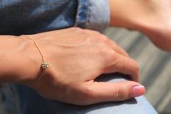 Bracelet on hand Royalty Free Stock Image