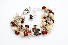 Bracelet handmade from Murano glass Stock Image
