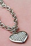 Bracelet in heart shape Stock Images