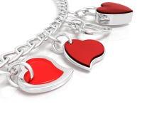 Bracelet of hearts Royalty Free Stock Image