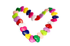 Bracelet from hearts. In the form of heart Royalty Free Stock Photography