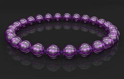 Bracelet isolated on black background with clipping path Royalty Free Stock Photo
