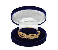 Bracelet in jewelry box Stock Photography