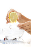 Bracelet lemon bath Stock Photos