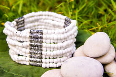 Bracelet made of beads Stock Photo