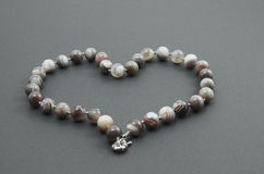 Bracelet made of glass beads. Royalty Free Stock Photo