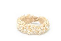 Bracelet made of seashells Stock Photos