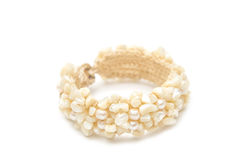 Bracelet made of seashells Royalty Free Stock Images