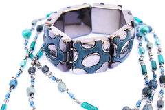 Bracelet and necklace Stock Photo