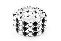 Bracelet noir et blanc Photos stock