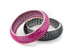 Bracelet noir et rose 2 Image stock