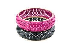 Bracelet noir et rose Photo libre de droits