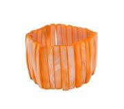 bracelet orange photographie stock libre de droits