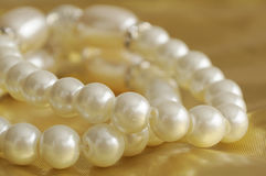 Bracelet of pearls Royalty Free Stock Images