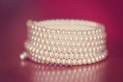 Bracelet with pearls Royalty Free Stock Photo
