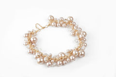 Bracelet with pearls Royalty Free Stock Image