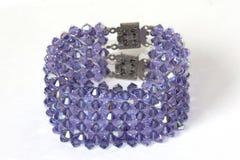 Bracelet with purple stones stock photo