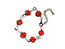Bracelet with red beads Stock Photos