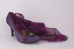 Bracelet, shoe and scarf. Black marcesite bracelet with elegant shoe and chiffon scarf Royalty Free Stock Images