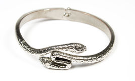 Bracelet from silver metal Royalty Free Stock Photos