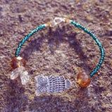 Bracelet with silver owl Stock Photo
