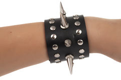 Bracelet with spikes isolated Stock Photos