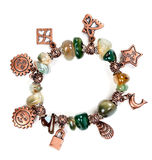Bracelet with stones and chain Stock Image