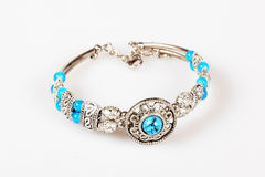Bracelet with turquoise Royalty Free Stock Photo