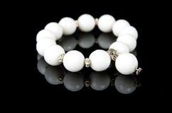 Bracelet with white stones Royalty Free Stock Photo