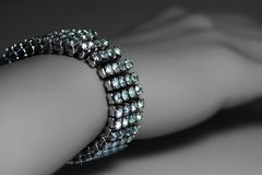 Bracelet on wrist A Royalty Free Stock Image