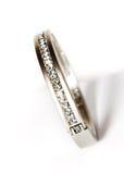 Bracelete branco com diamantes Imagem de Stock Royalty Free