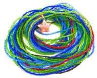 Bracelete colorido do grânulo com a estrela isolada Fotos de Stock