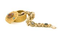 Bracelete com pedras coloridas Fotos de Stock Royalty Free