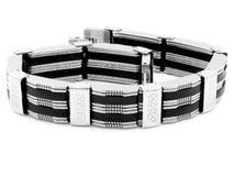 Bracelete da joia para as mulheres e os homens - de aço inoxidável Fotos de Stock Royalty Free