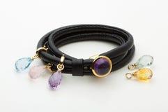 Bracelete de couro Fotografia de Stock Royalty Free