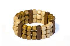 Bracelete de madeira fotografia de stock