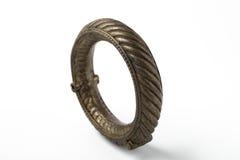 Bracelete de prata indiano antigo imagem de stock