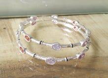 Bracelete de prata luxuoso Fotos de Stock Royalty Free