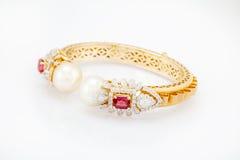 Bracelete do diamante Foto de Stock Royalty Free