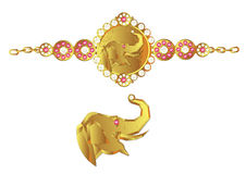 Bracelete do elefante Foto de Stock Royalty Free