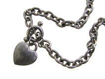 Bracelete do encanto do coração fotos de stock