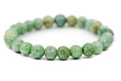 Bracelete do jade isolado no branco Foto de Stock Royalty Free