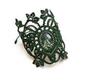 Bracelete do macramê com pedra Imagens de Stock