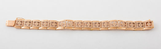 Bracelete do ouro Foto de Stock Royalty Free