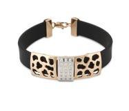 Bracelete do ouro com diamantes Imagens de Stock
