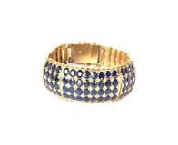 Bracelete do ouro com gemas do rubi Fotografia de Stock Royalty Free