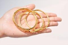 Bracelete dourado Imagem de Stock Royalty Free